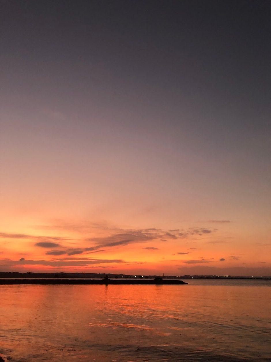 浜比嘉島の夕暮れ時